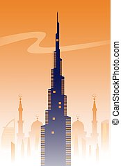Dubai,  skyline background