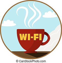 Free Wi-Fi zone icon. Vector