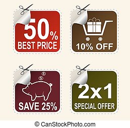Vector sale coupons