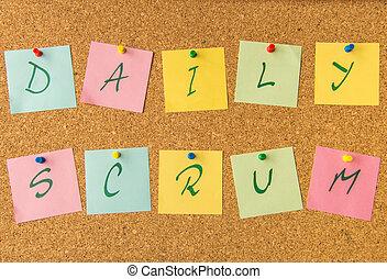 cork board daily scrum