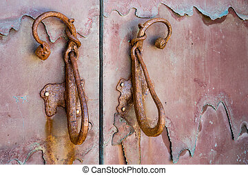 Old door handles in Cannigione Sardinia