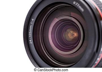 Camera lens. Close up photo