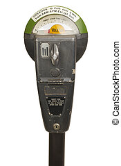 Parking Meter - Old Violation Parking Meter Isolated on...