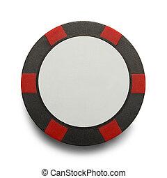 Red Black Poker Chip