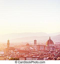Sunset landscape of Florence