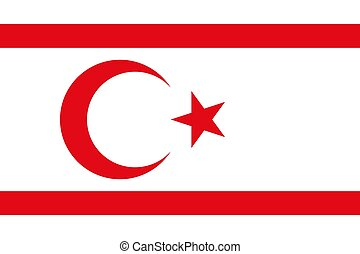 The national flag of Turkish Republic Northern Cyprus