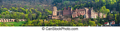 Renaissance style Heidelberg Castle in Germany - Panoramic...