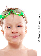 kid with goggles