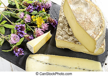 the Tome de Savoie with several flowers
