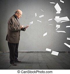 email, como, antigas, letras,