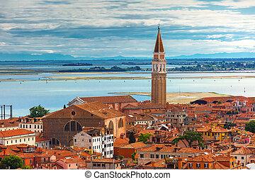 San Francesco della Vigna in Venice, Italy - View from...