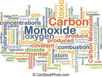 Carbon monoxide background concept - Background concept...