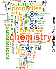 Chemistry background concept - Background concept wordcloud...