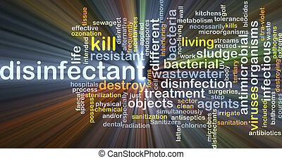 Disinfectant background concept glowing - Background concept...