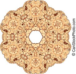 Mehndi henna tattoo style vector mandala - Indian mehndi...