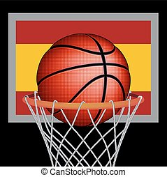 Spanish basket ball, vector