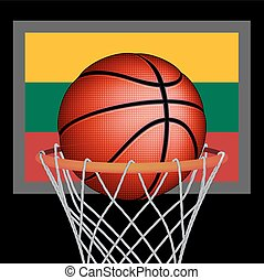 Lithuanians basket ball, vector