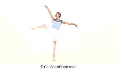 Beautiful female ballet dancer, slow motion - Young...