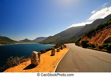 Cape Town, South Africa Coast - View along the coast of Cape...