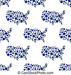 USA network map pattern background. Seamless