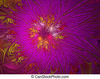 fractal background with pink flower graphic quality of the...