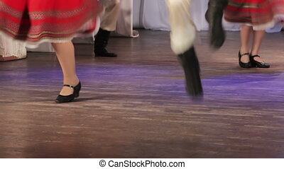 Russian folk dance on stage - On stage Russian folk dance...