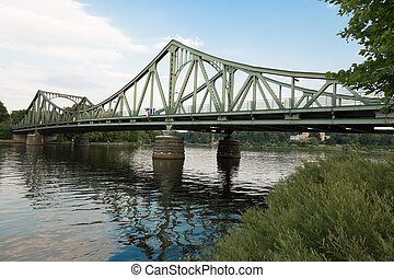 Glienicke Bridge west side - West side of the Glienicke...