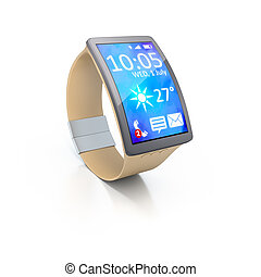 smart watch - 3D rendering of a big screen smart watch
