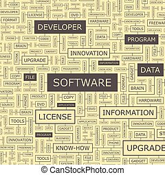 SOFTWARE Word cloud concept illustration Wordcloud collage...