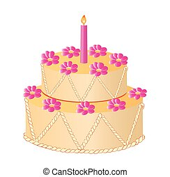 celebratory cake - vector illustration of celebratory cake