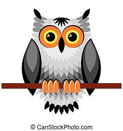 owl - vector image of  owl