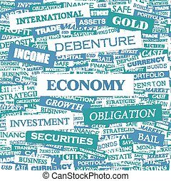ECONOMY Word cloud illustration Tag cloud concept collage
