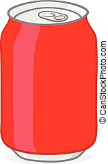 Red soda can doodle