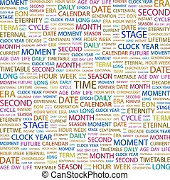TIME Concept illustration Graphic tag collection Wordcloud...