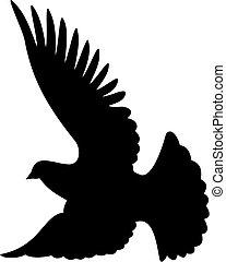 Dove silhouette vector