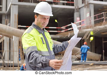 Engineer At Construction Site - Civil Engineer at...