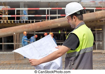 Engineer At Construction Site