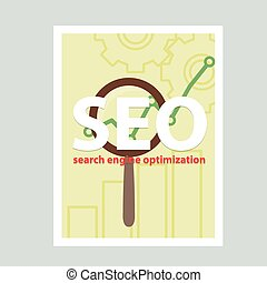 Search engine flat illustration with magnifying glass. Eps10