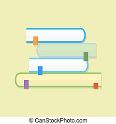 Education book. Flat vector icon with shadow
