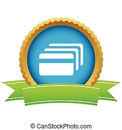 Credit card certificate icon - Certificate seal with image...