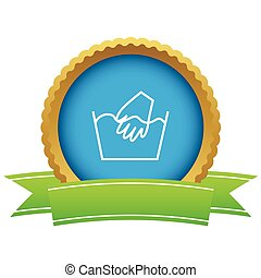 Hand wash certificate icon