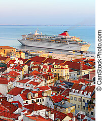 Luxury cruise liner, Portugal