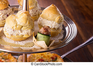 Savory pastry selection - A variety of delicious savory...