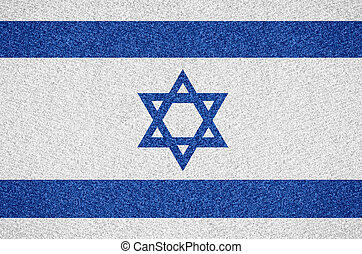 flag Israel - flag of Israel or Israeli symbol on abstract...