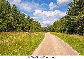 Pathway bikeway Brombachsee - Path, bikeway near...