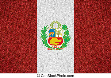 flag of Peru or Peruvian symbol  on abstract background
