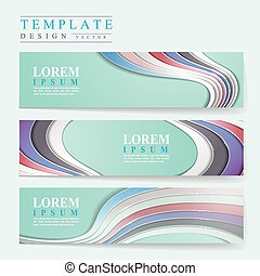 elegant banner template design with glossy wave elements