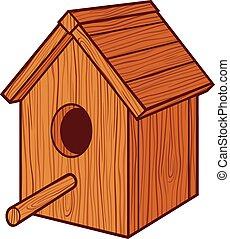 bird house - birdhouse (nesting box, birdhouse)