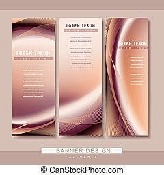 futuristic style banner template design with streamline...