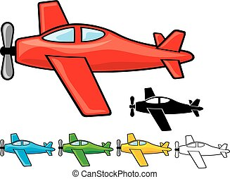 airplanes collection vector illustration